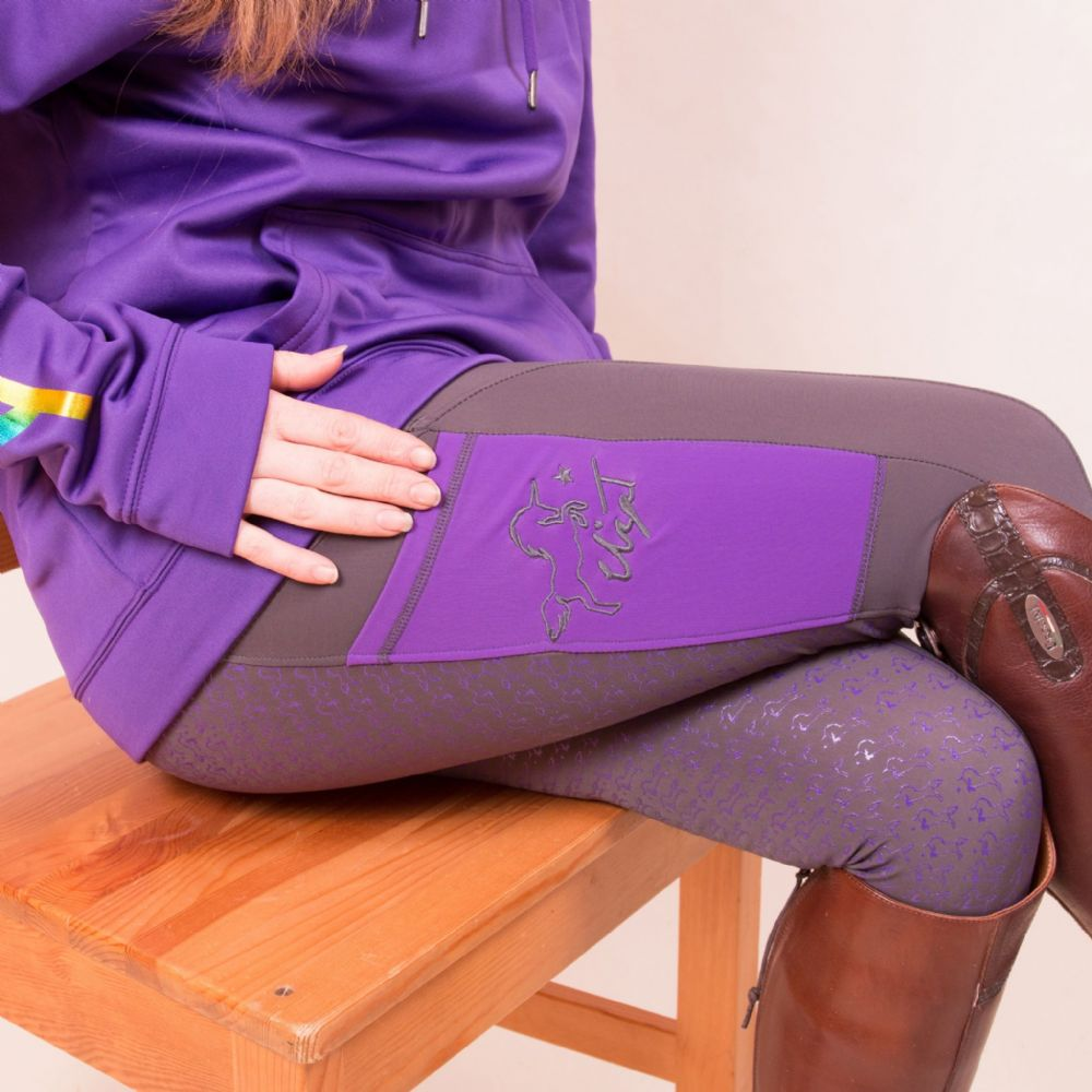 AW19 Eliza T Perfect Purple Riding Jeggings